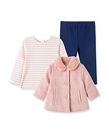 Baby Girls Check Jacket with Leggings Set