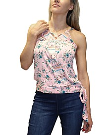 Juniors' Floral-Print Tank Top