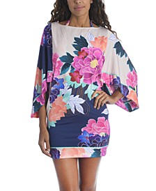 Opulent Oasis Printed Tunic Coverup