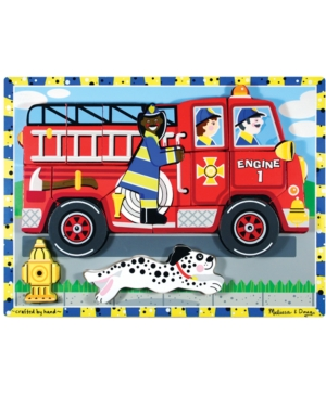 Melissa and Doug Kids Toy Fire Truck Chunky Puzzle