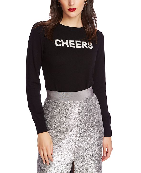 1.STATE Embellished Cheers Sweater