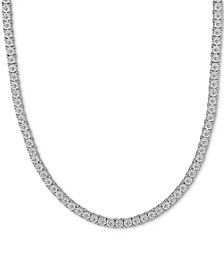 """Men's Diamond Link 24"""" Necklace (2 ct. t.w.) in 10k White Gold"""