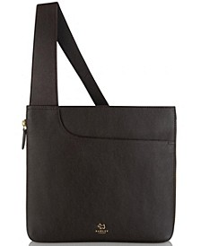 Pocket Bag Zip-Top Leather Crossbody