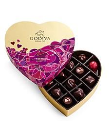 Dark Chocolate Lover's Heart Gift Box, 14-Piece