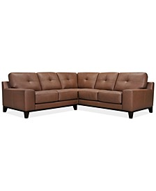 Harli 2-Pc. Leather Sectional, Created for Macy's
