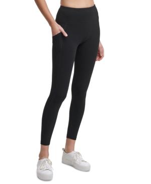 Calvin Klein Performance High-waist Leggings In Black Iridescent Combo