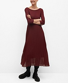 Women's Pleated Skirt Dress
