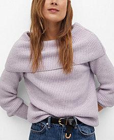 MANGO Women's Boat Neck Knit Sweater