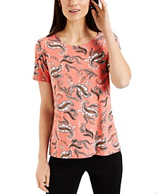Jacquard-Print Top, Created for Macy's