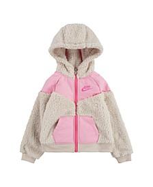 Little Girls Sherpa Full-Zip Hoodie