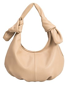 Emma Medium Vegan Leather Hobo Shoulder Bag