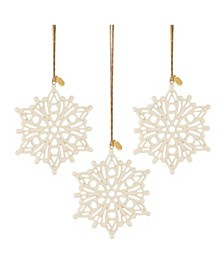 2020 Snow Fantasies Snowflake Ornament 3-Piece Set