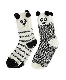 Totes Women's 2-Pack Supersoft Novelty Toastie™ Slipper Socks