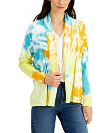 Cotton Tie-Dyed Cardigan, Created for Macy's