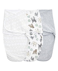 Essentials Easy Swaddle Collection Wrap, Set of 3