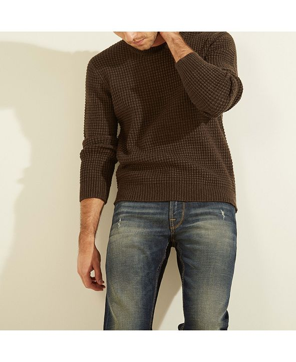 GUESS Liam Waffle Knit Sweater