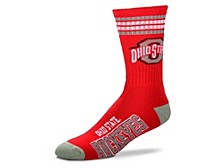 Ohio State Buckeyes Youth 4 Stripe Deuce Crew Socks
