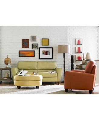 Almafi Leather Sofa Living Room Furniture Collection Furniture Macy 39 S
