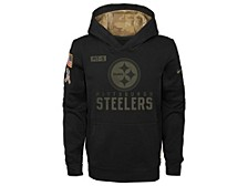 Youth Pittsburgh Steelers Salute To Service Therma Hoodie Sweatshirt