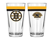 Boston Bruins 16oz Double Banded Pint Glass