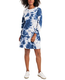 Cotton Tie-Dye French Terry Dress