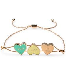 Gold-Tone Sweetie Heart Slider Bracelet, Created for Macy's