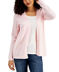 Open-Front Pointelle Cardigan, Created for Macy's