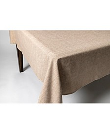"Tweed 100% Cotton Tablecloth 60""x104"" Red"