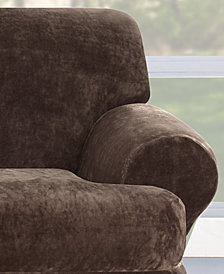 Sure Fit Stretch Plush 2-Pieve T-Loveseat Slipcover