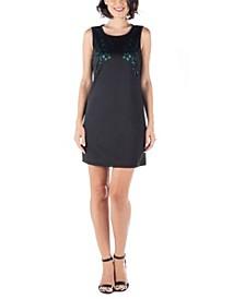 Women's Sleeveless Cutout Shift Dress
