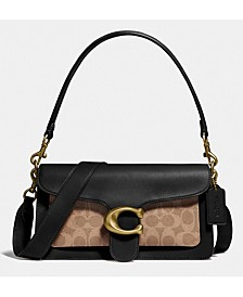 Tabby Leather Shoulder Bag 26 With Signature Canvas