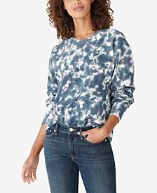 Tie-Dyed Pullover Sweatshirt