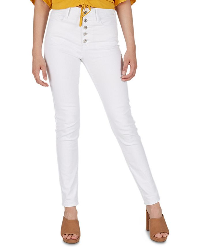 Numero - High-Rise Exposed-Button Skinny Jeans