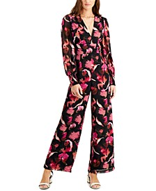 Printed Wide-Leg Jumpsuit, Created for Macy's