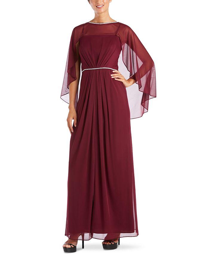 R & M Richards - Rhinestone-Trim Gown