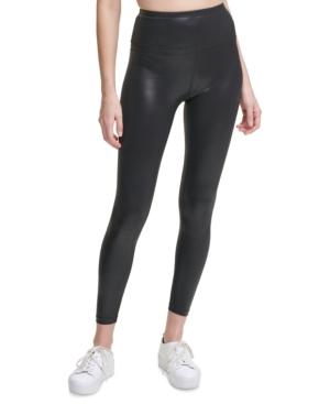 Calvin Klein Performance Shine High-waist Leggings In Luster Black