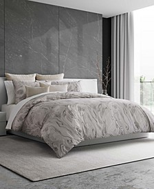 "Marbled Duvet Cover King, 92"" L x 107"" W"