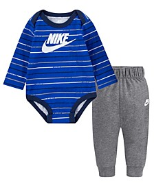 Baby Boys Stripe Bodysuit Pant Set
