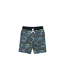 Little Boys All Over Tropical Print Graphic Shorts