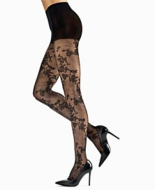 Women's Scarlet Lace Sheer Tights Hosiery