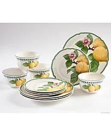 French Garden Modern Lemons 12-PC Dinnerware Set