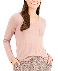 Long-Sleeve Pocket Pajama T-Shirt, Created for Macy's
