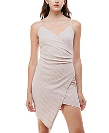 Juniors' Asymmetrical Bodycon Dress