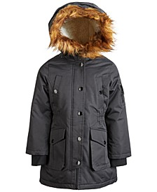 Little Girls Faux-Fur Hooded Parka