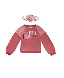 Big Girls Choose Love Sweater and Matching Mask
