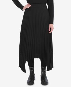 Plus Size Pleated Hanky Hem Skirt