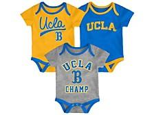 Newborn 3-Pack UCLA Bruins Champ Bodysuits
