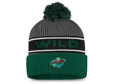 Minnesota Wild 2020 Locker Room Pom Knit Hat