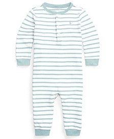 Ralph Lauren Baby Boys Striped Henley Coverall