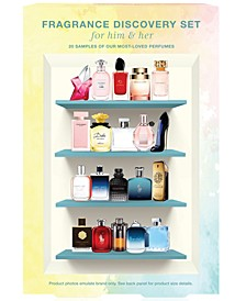 20-Pc. Fragrance Discovery Set for Him & Her, Created for Macy's